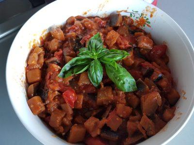 Melanzane al Funghetto con Pomodoro e Basilico